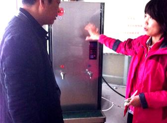 宏华连续式开水器 好口碑引北京铁路局实地考察