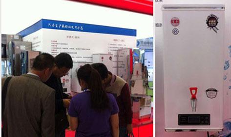 宏华电器壁挂步进式电开水器在2015北京水展备受欢迎